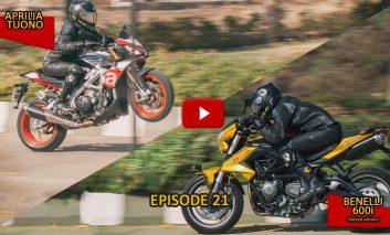 #100Motorcycles: Episode 21: Aprilia Tuono V4 & Benelli 600i Limited Edition