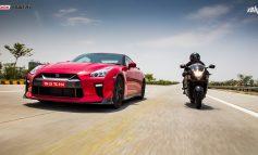 Godzilla Vs Falcon | Nissan GT-R Vs Suzuki Hayabusa | Driver Vs Rider
