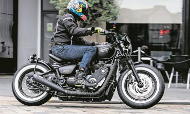What's crazy? A Triumph Bobber Black supercharged to produce 135 Bhp!