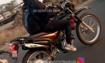 Yamaha dual-sport (XTZ 125?) caught testing in India